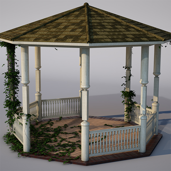 wooden pergola - 3DOcean Item for Sale