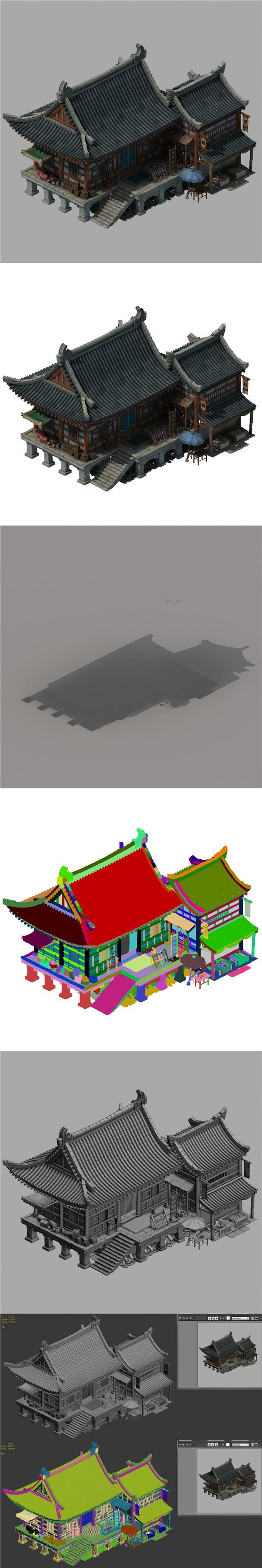 City Building - Weapons Shop 043 - 3DOcean Item for Sale