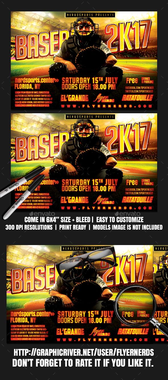 Baseball 2K17 Sports Flyer - Sports Events