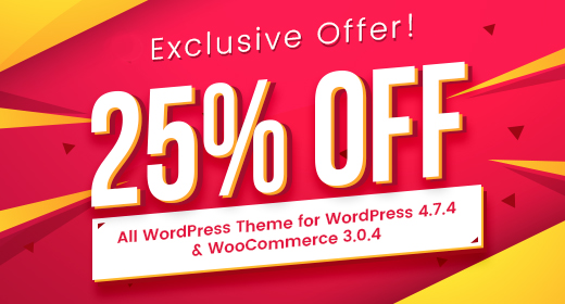 Best WordPress Themes 2017 |  25% OFF | EXPIRED