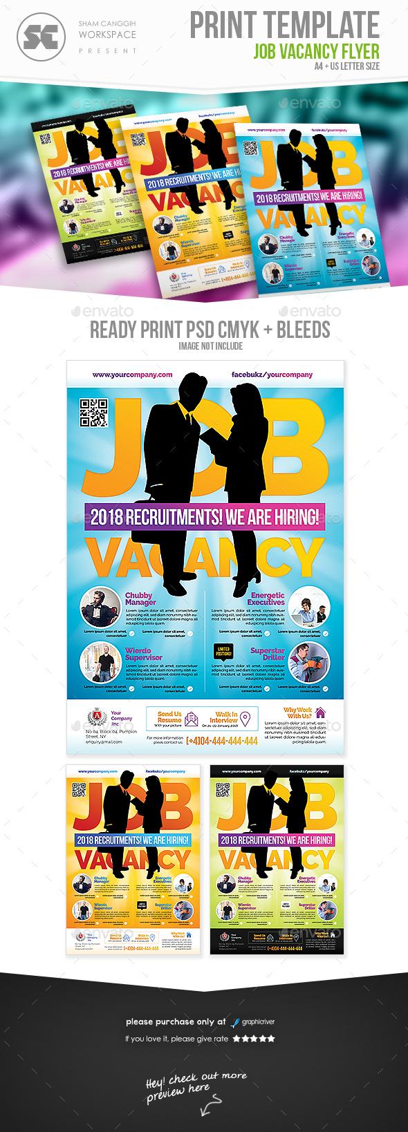 Job Recruitment Flyer - Miscellaneous Events