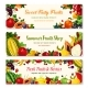 Fruits and Berries Vector Farm Banners Templates - GraphicRiver Item for Sale