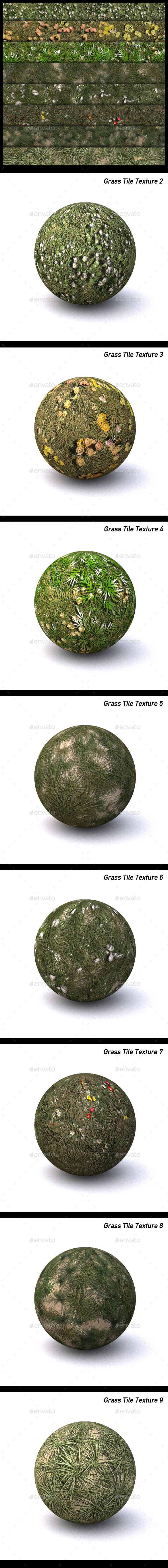 Grass Texture Pack - 3DOcean Item for Sale