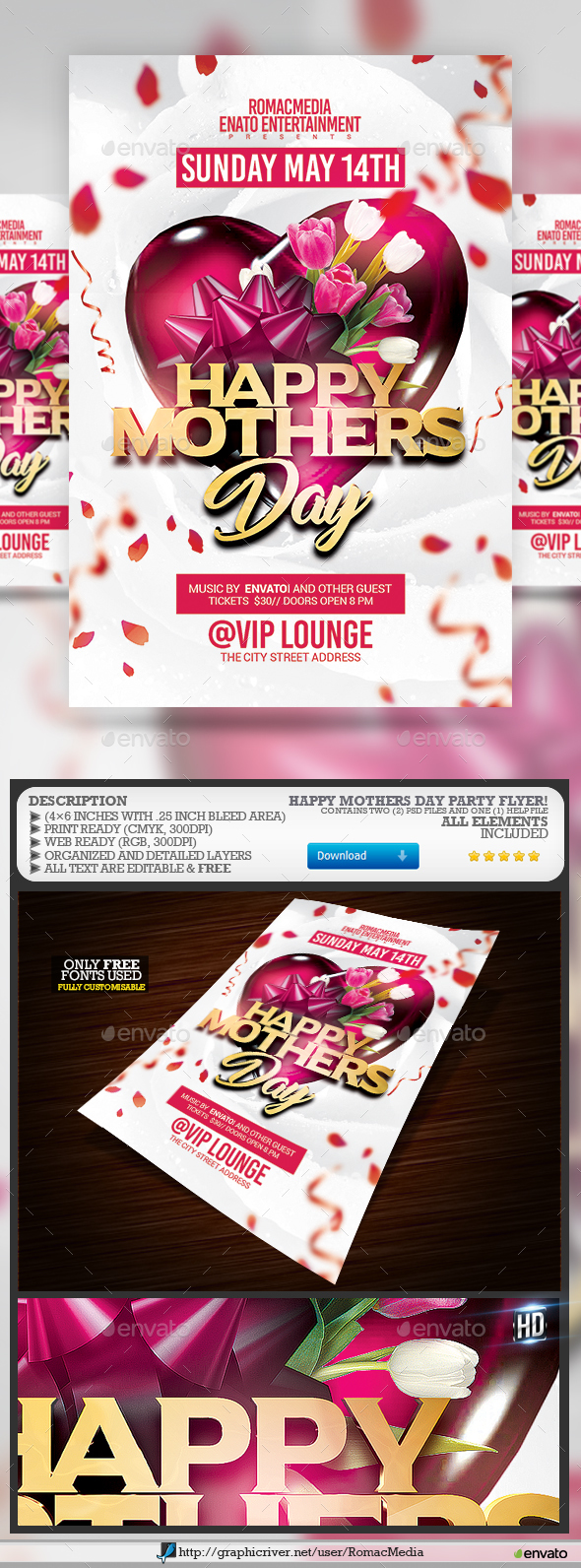 Mothers Day Flyer - Clubs & Parties Events