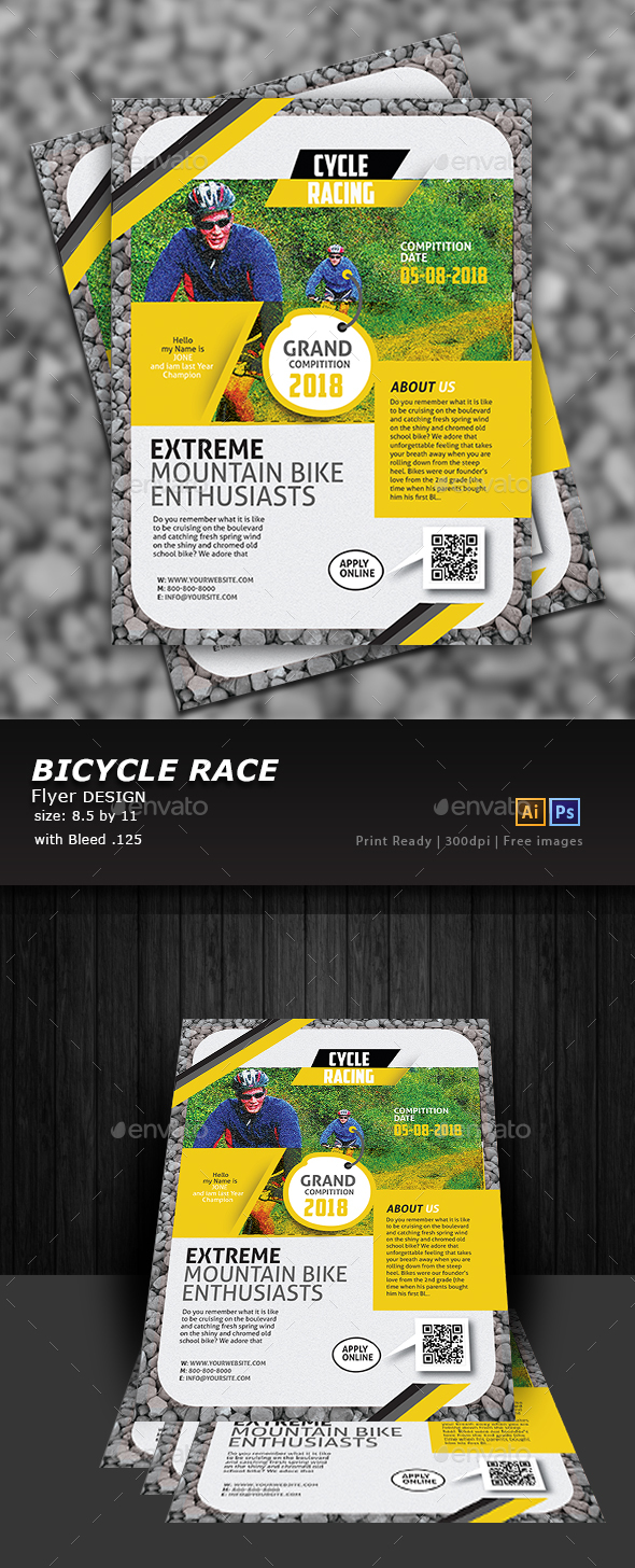 Bicycle Racing Flyer - Flyers Print Templates