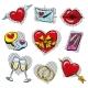 Vector Pop Art Fashionable Love Badges Set - GraphicRiver Item for Sale