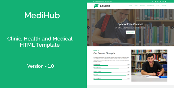 Edukan – Course and Education HTML Template