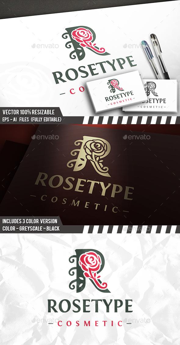 Rose R Letter Logo - Letters Logo Templates