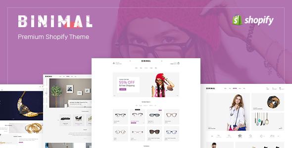 Binimal – Minimalist Shopify Theme