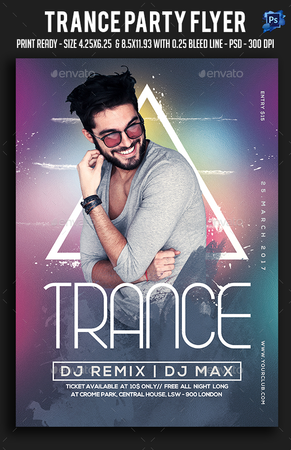 Trance Party Flyer - Clubs & Parties Events