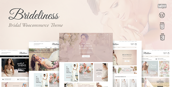Brideliness - Wedding Shop WordPress WooCommerce Theme - WooCommerce eCommerce