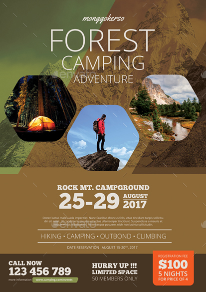 camping flyer by monggokerso