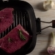 Beef Fillet on a Pan with Pepper, Rosemary and Garlic. - VideoHive Item for Sale