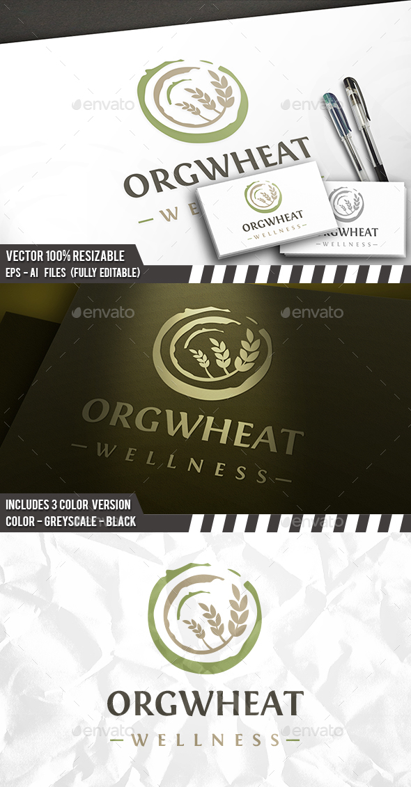 Organic Wheat Logo - Food Logo Templates