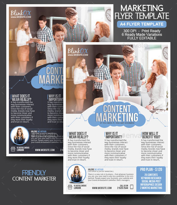 Content Marketing Flyer by BloganKids | GraphicRiver