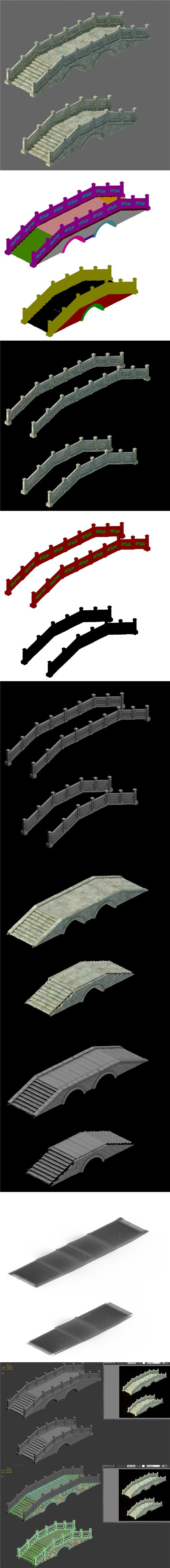 Ancient architecture - stone bridge - 3DOcean Item for Sale