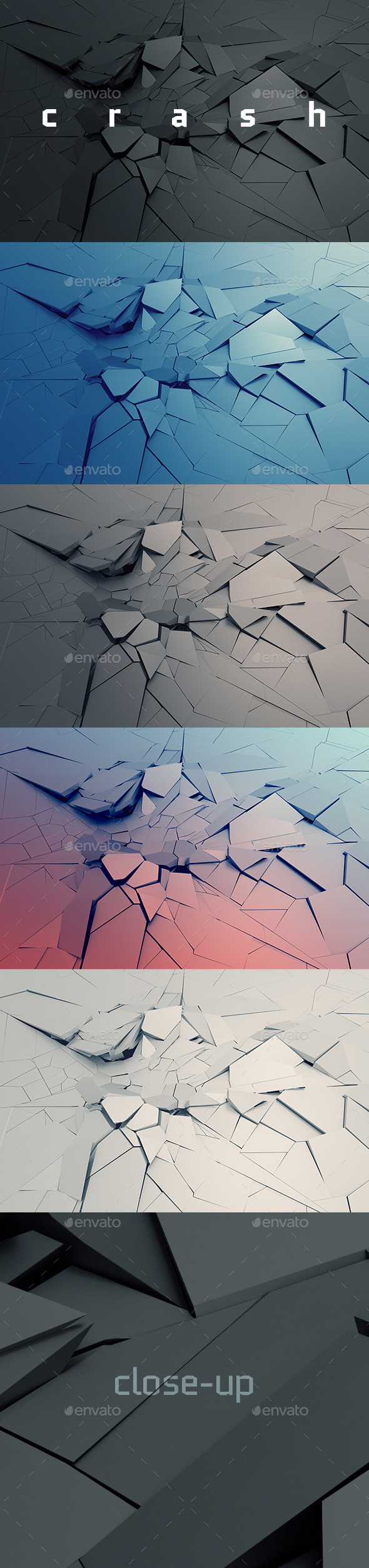 Cracked Surface, 3D Render - 3D Backgrounds