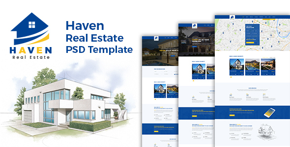 Haven - Real Estate PSD Template
