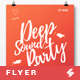Deep Sound Party Ride - Flyer / Poster Artwork Template A3