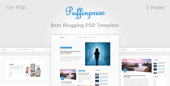 Puffinpress – Creative Blogging PSD Template.