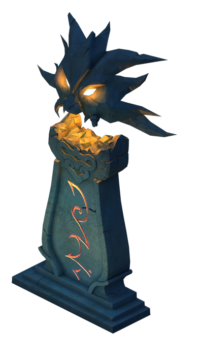 Ghost Candlestick - Stone statue