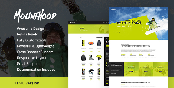 Mounthood | Ski and Snowboarding HTML Template