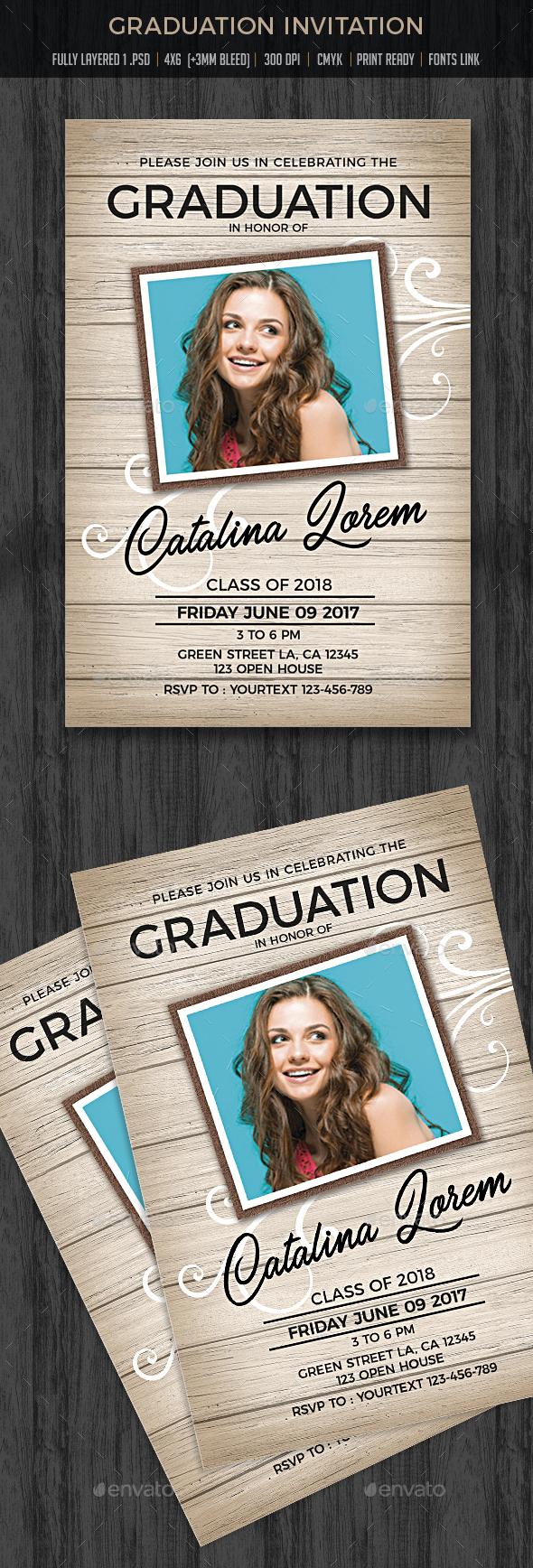 Graduation Party Invitation - Cards & Invites Print Templates