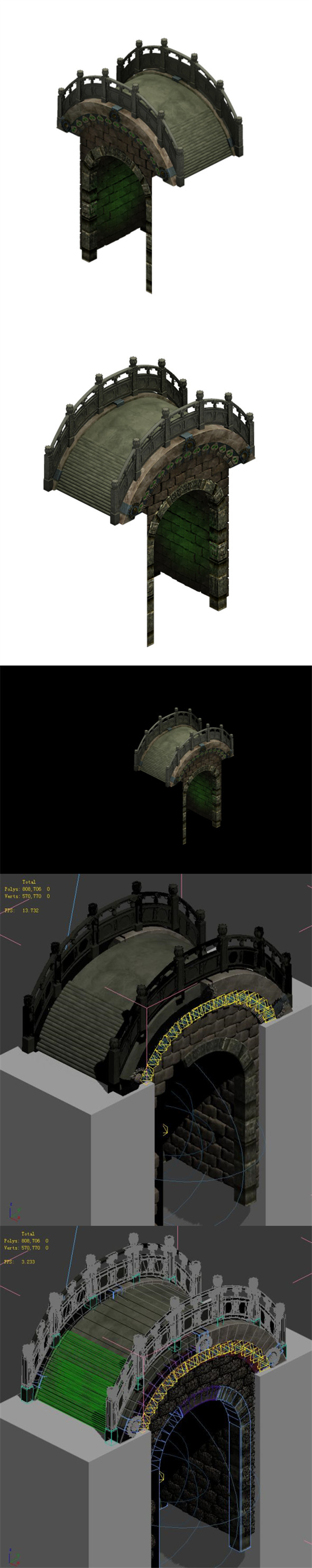 Ghost Gate altar - stone bridge - 3DOcean Item for Sale