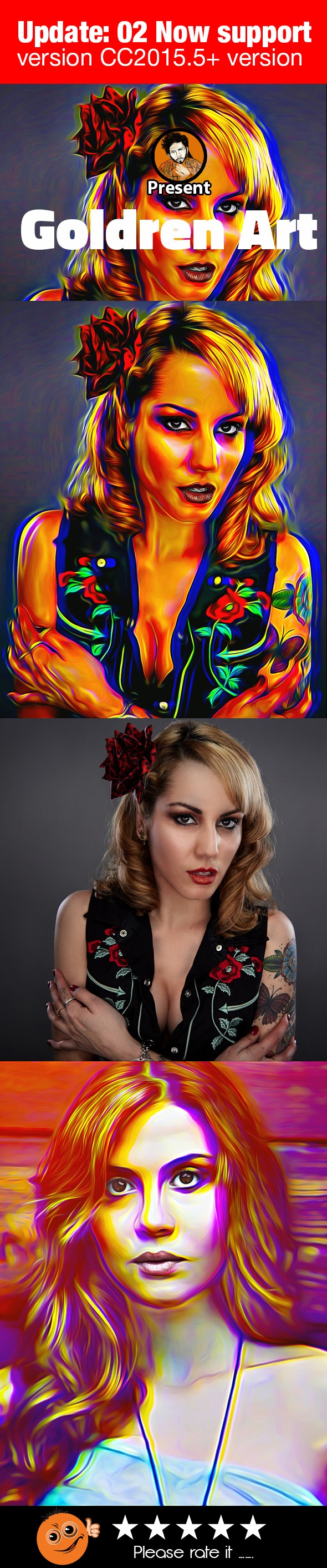 Goldren Art Action - Photo Effects Actions