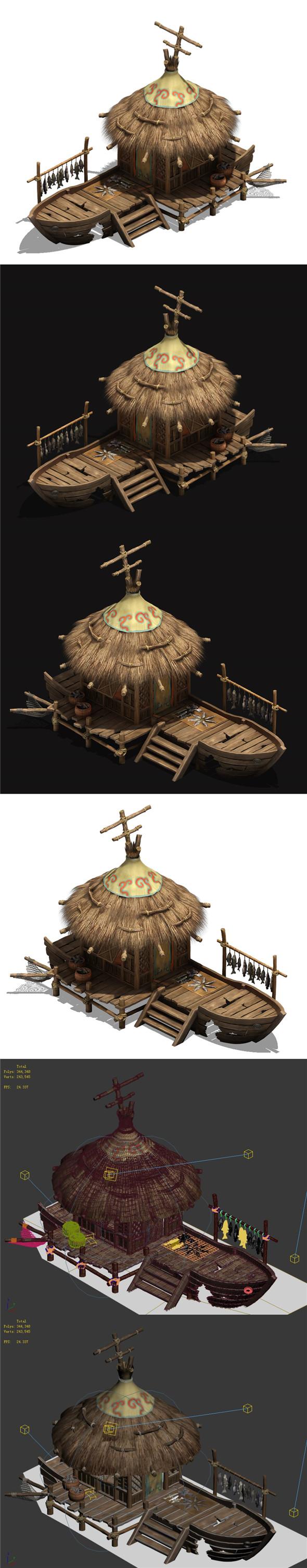 Seaside Village - Fisherman Cottage 02 - 3DOcean Item for Sale