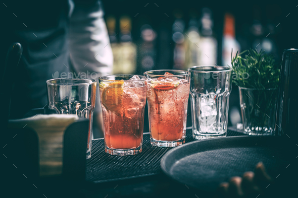 Delicious grapefruit cocktails - Stock Photo - Images