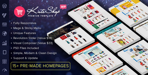 KuteShop - Fashion, Electronics & Marketplace Elementor WooCommerce Theme