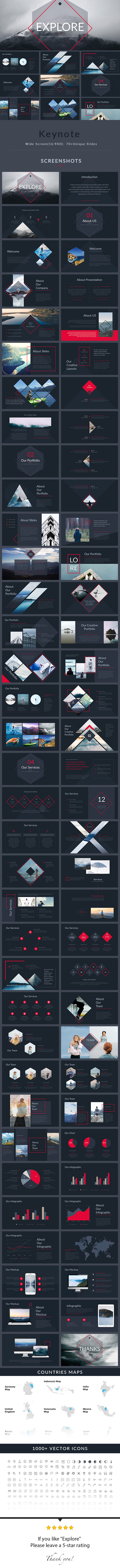 Explore - Keynote Presentation Template - Creative Keynote Templates