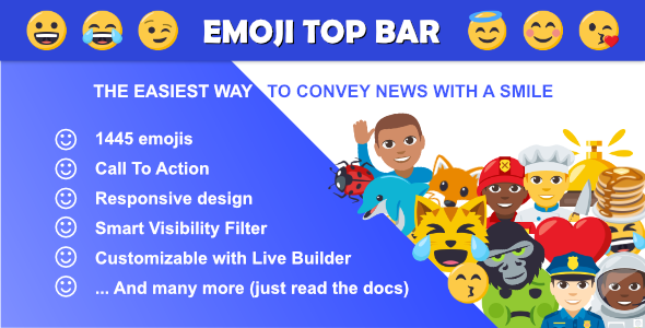 Emoji Top Bar For WordPress and WooCommerce - CodeCanyon Item for Sale