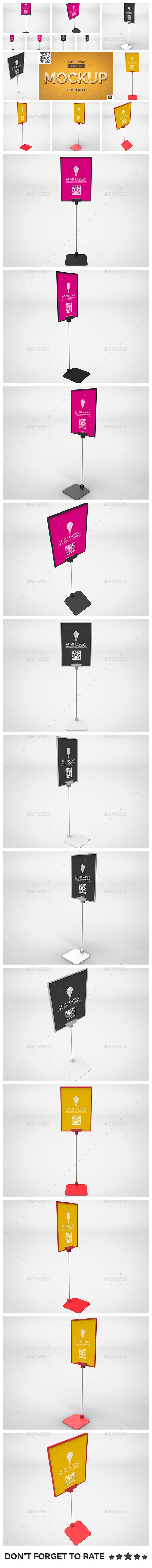 Flyer Display Mockup - Signage Print