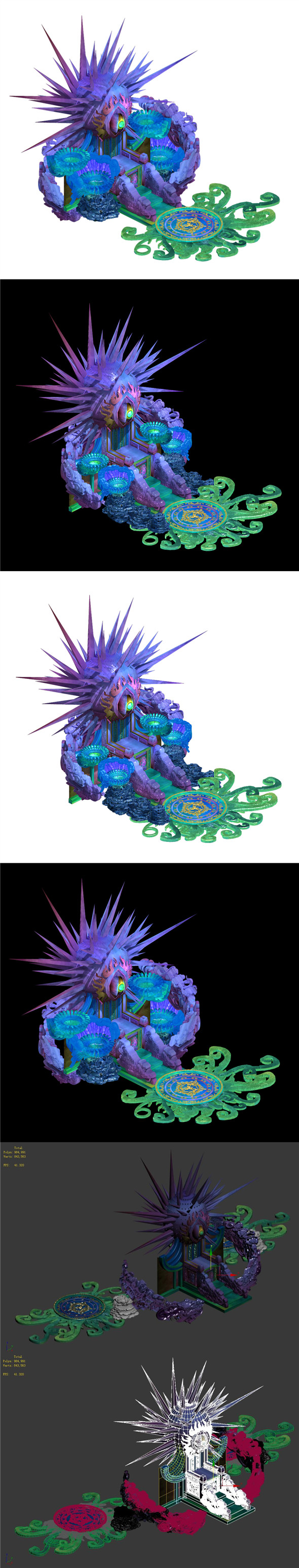 Seabed - Dragon Emperor throne - 3DOcean Item for Sale
