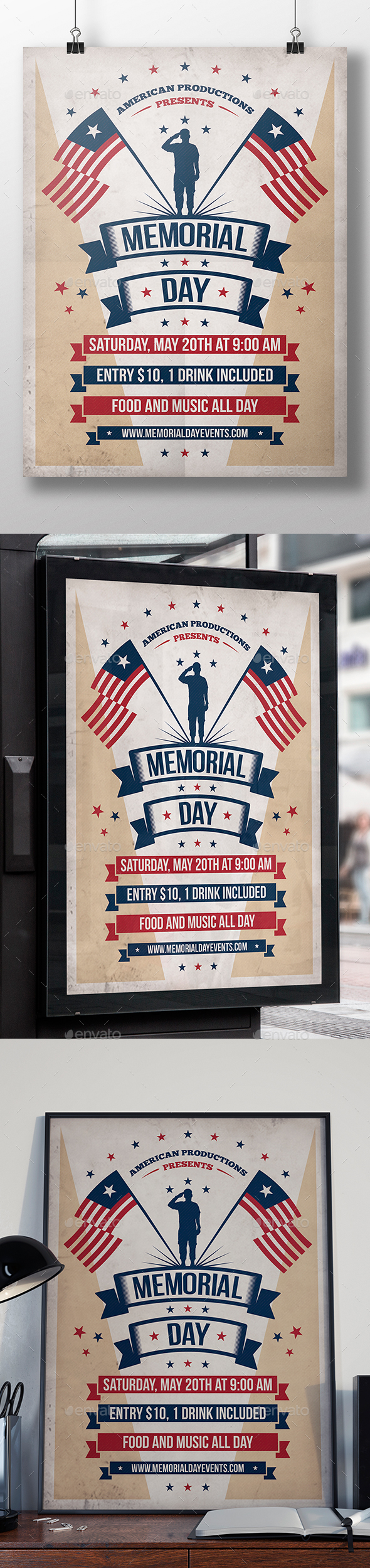 Memorial Day Event Flyer - Clubs & Parties Events
