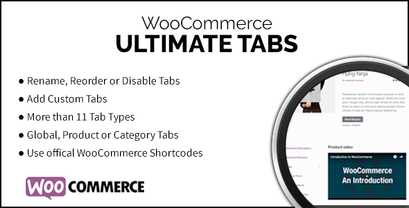 WooCommerce Ultimate Tabs - CodeCanyon Item for Sale