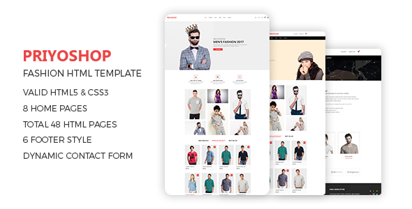 Priyoshop  - eCommerce Fashion Template - Fashion Retail