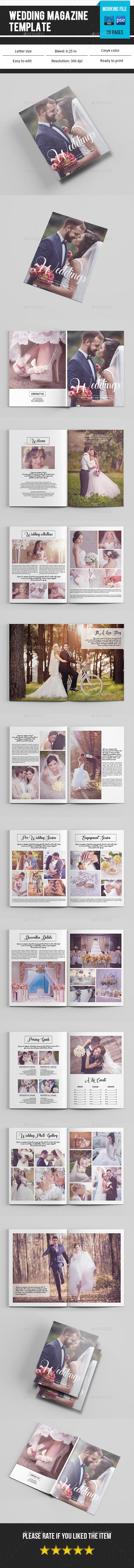 Wedding Photography Magazine / Catalog Template -V08 - Catalogs Brochures