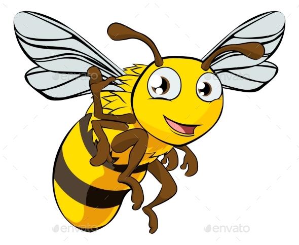 Cartoon Bee Illustration - Animals Characters