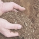 Farmer with Handful of Soil. Agriculture Background