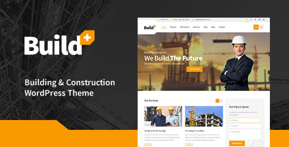 BuildPlus - Construction WordPress Theme - Business Corporate