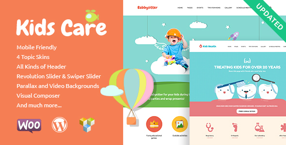 Kids Care | Multi-Purpose Children WordPress Theme