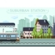 Suburban Railway Station City Life Design - GraphicRiver Item for Sale