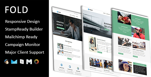 Fold - Email Template Multipurpose Responsive with Stampready Builder Access - Email Templates Marketing