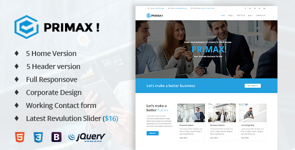 Primax! – Corporate Business Template