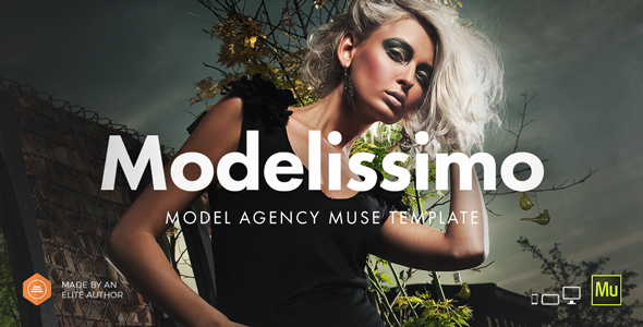 Modelissimo - Model Agency / Fashion Portfolio Onepage Muse Template - Creative Muse Templates