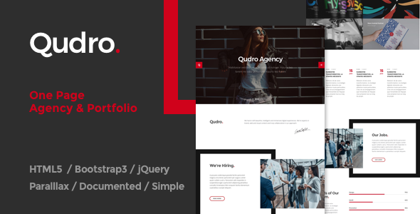 Qudro – One Page Agency & Portfolio