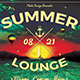 Summer Lounge Flyer Template V3 - GraphicRiver Item for Sale